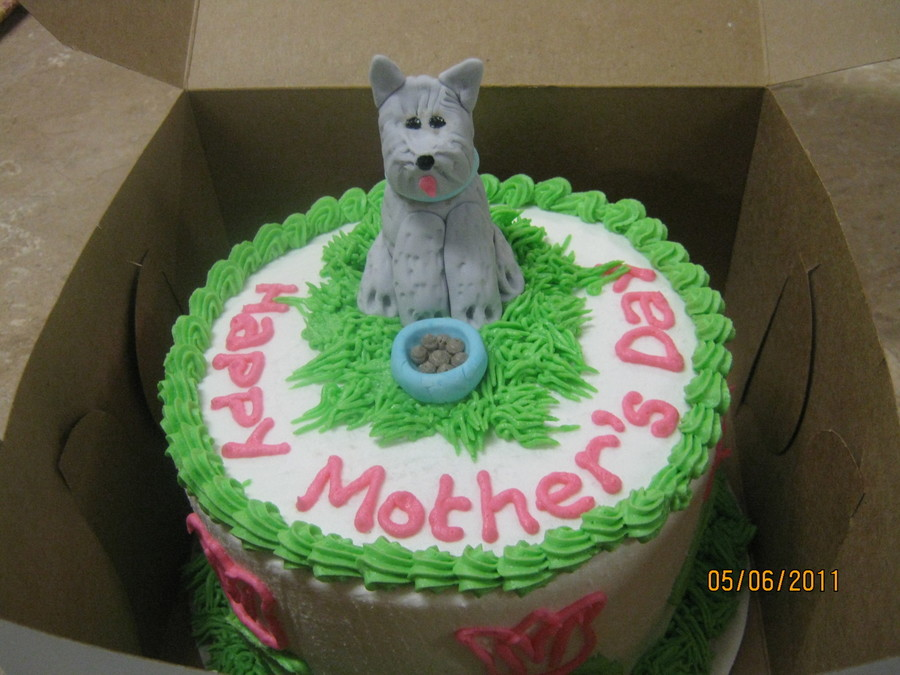 Mothers Day Puppy on Cake Central