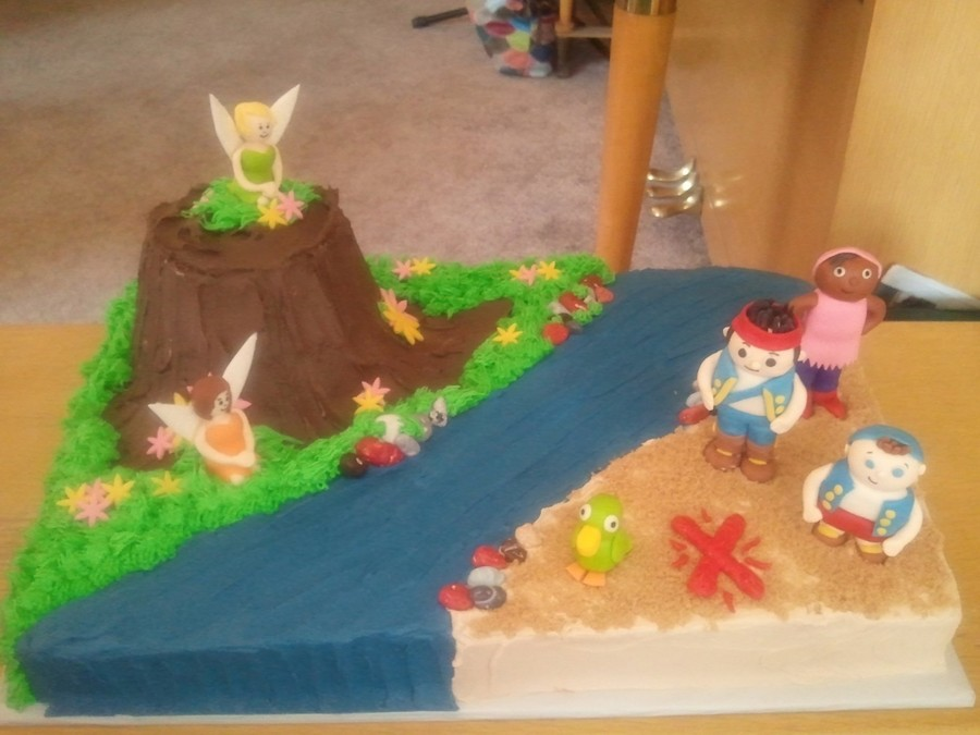 Jake & The Neverland And Tinkerbell  on Cake Central