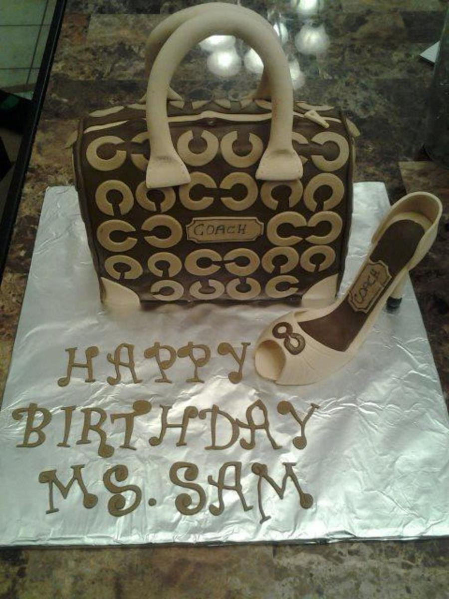 Coach Purse And Shoe Cake  on Cake Central
