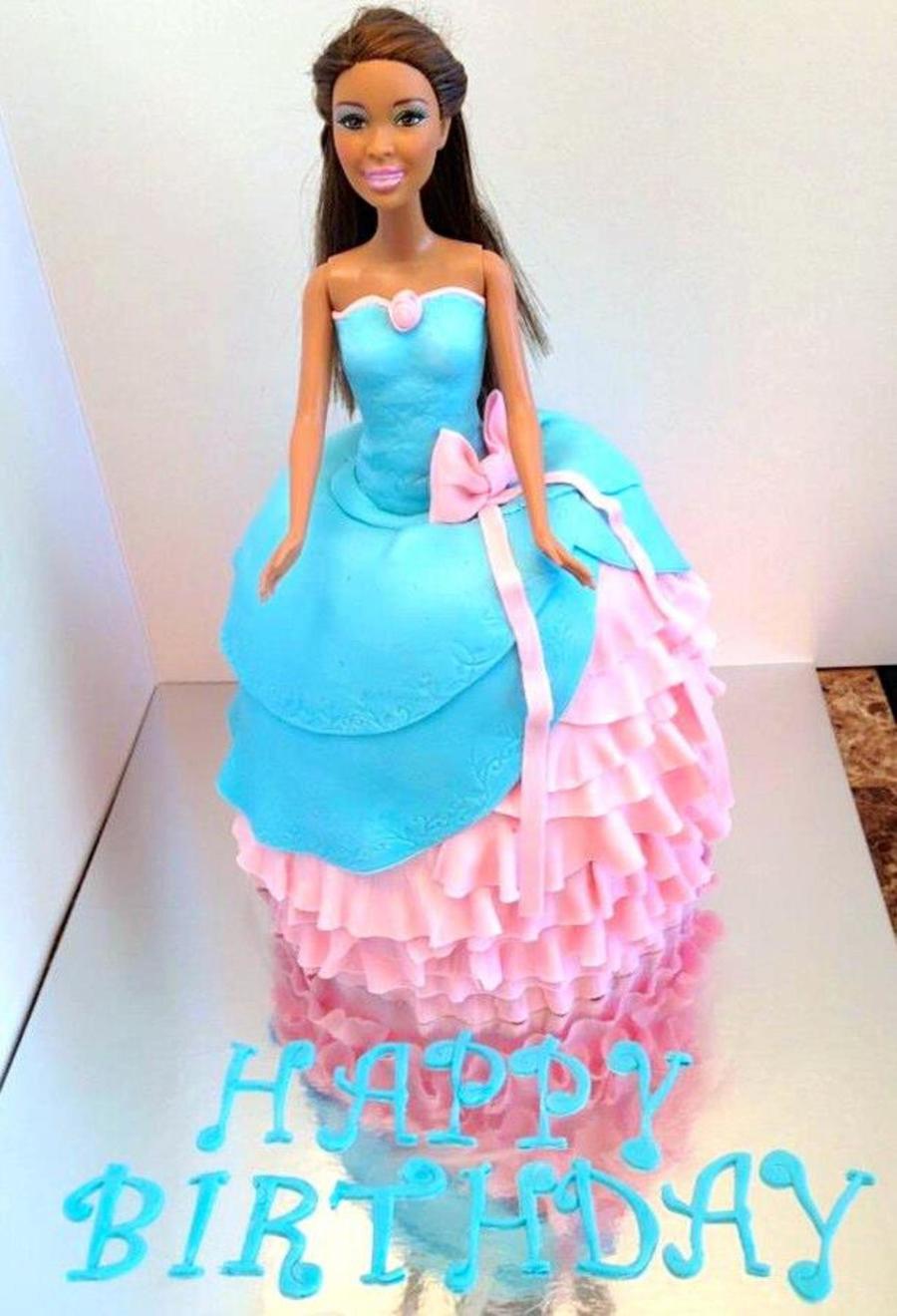 Barbie Dress Cake - CakeCentral.com