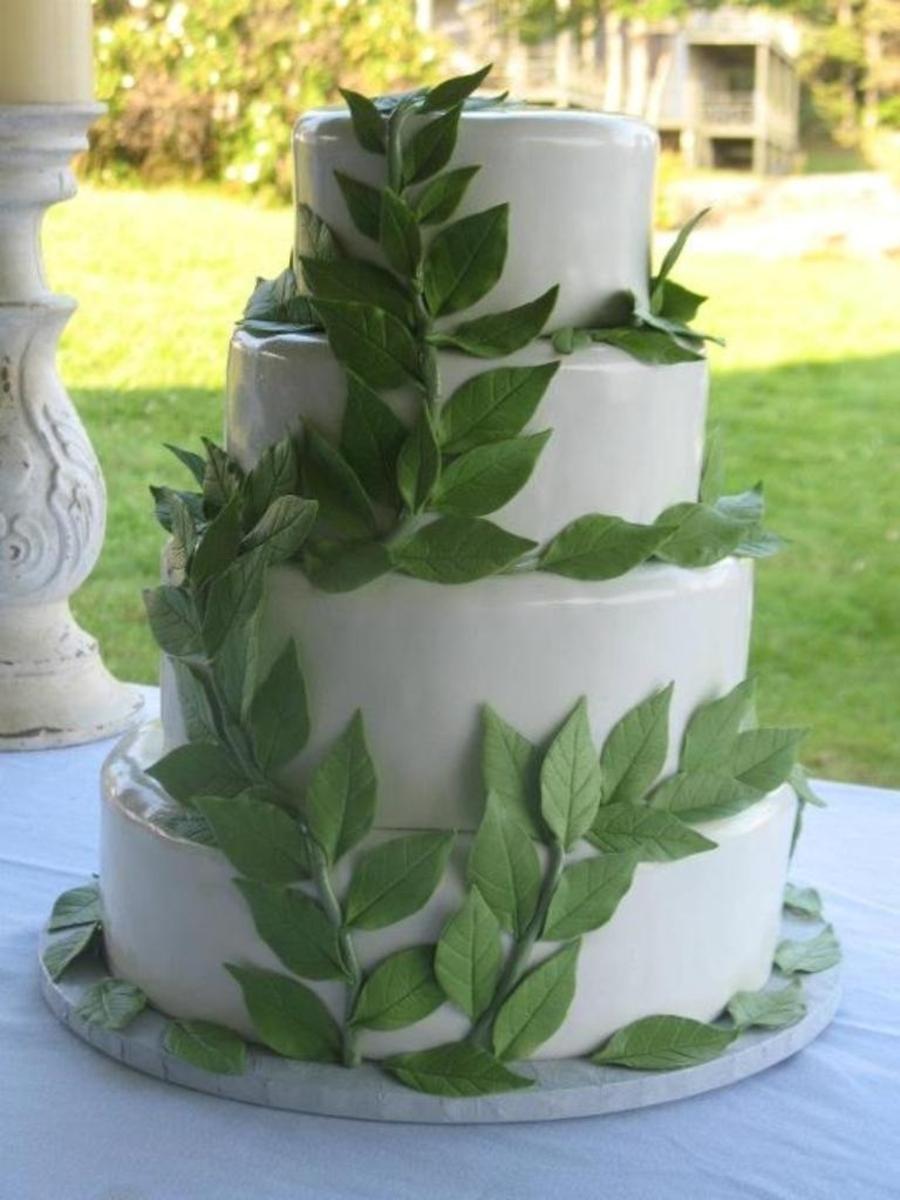 Leaf Wedding Cake