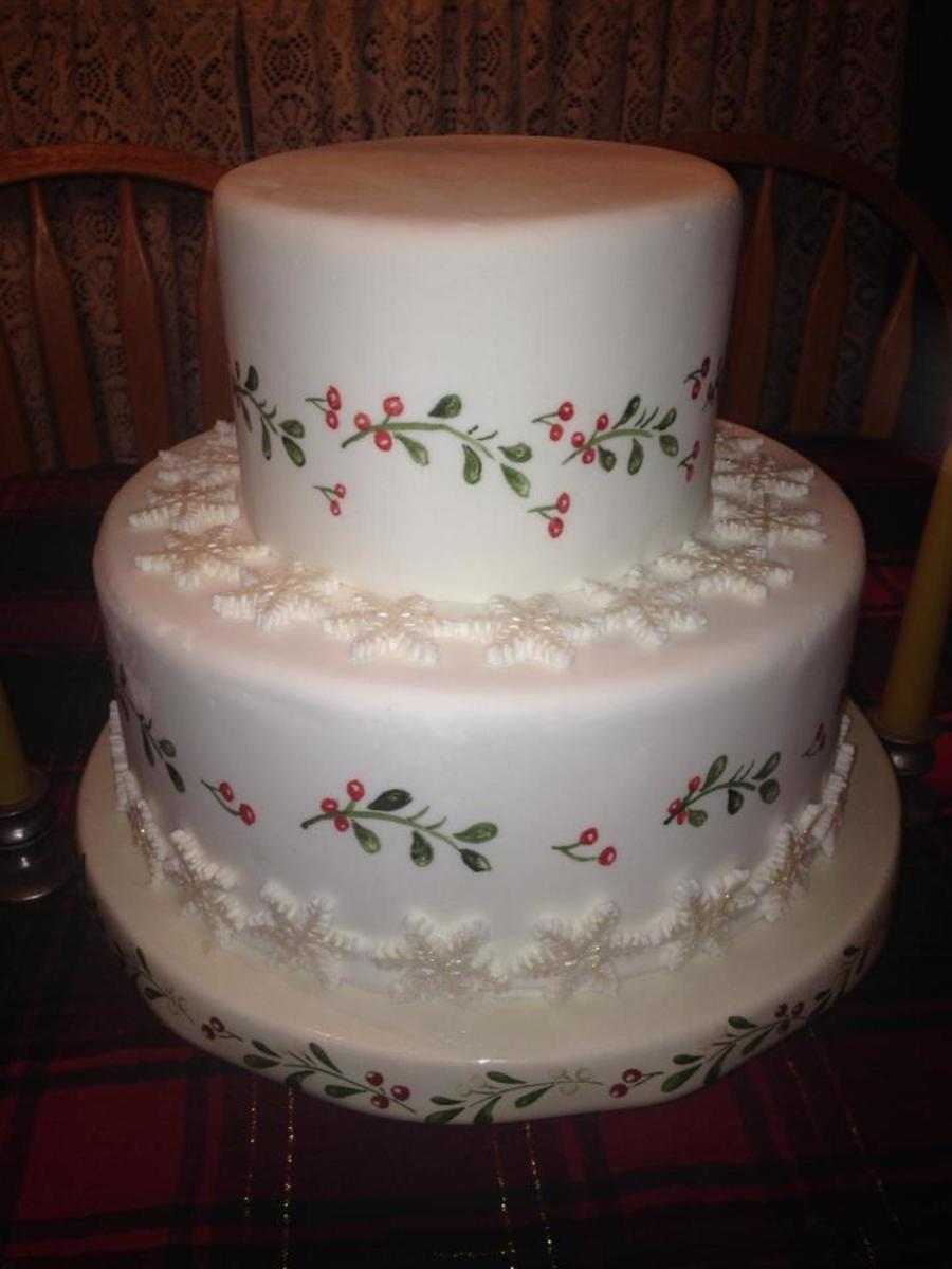 Hand Painted Christmas Cake on Cake Central