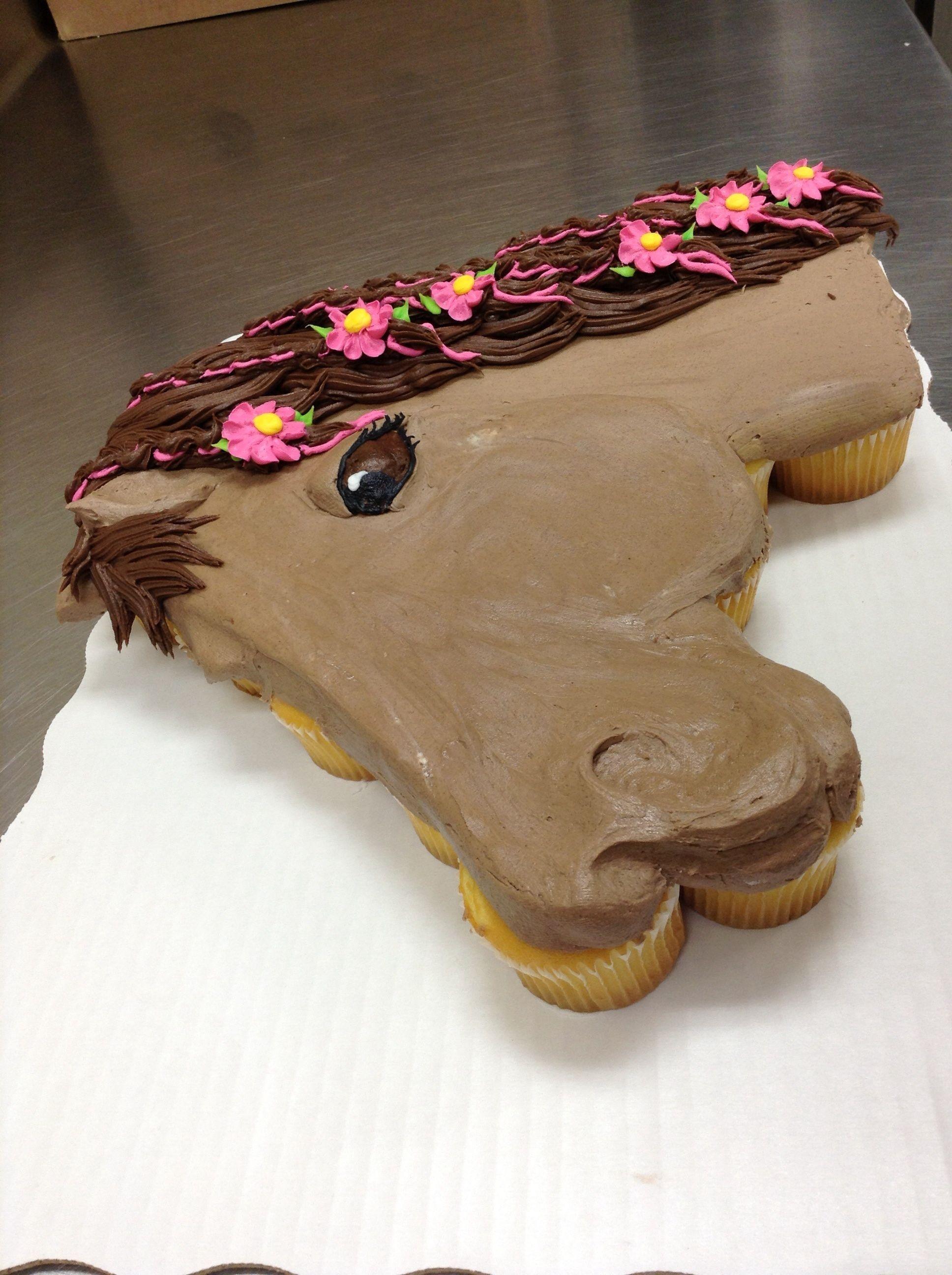 Horse Cupcake Cake Recipe