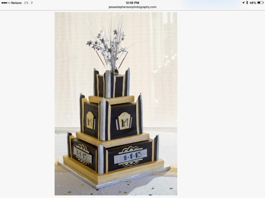 Art Deco Buttercream Wedding Cake : Art Deco Fondant Wedding Cake For New Years Day Wedding ...