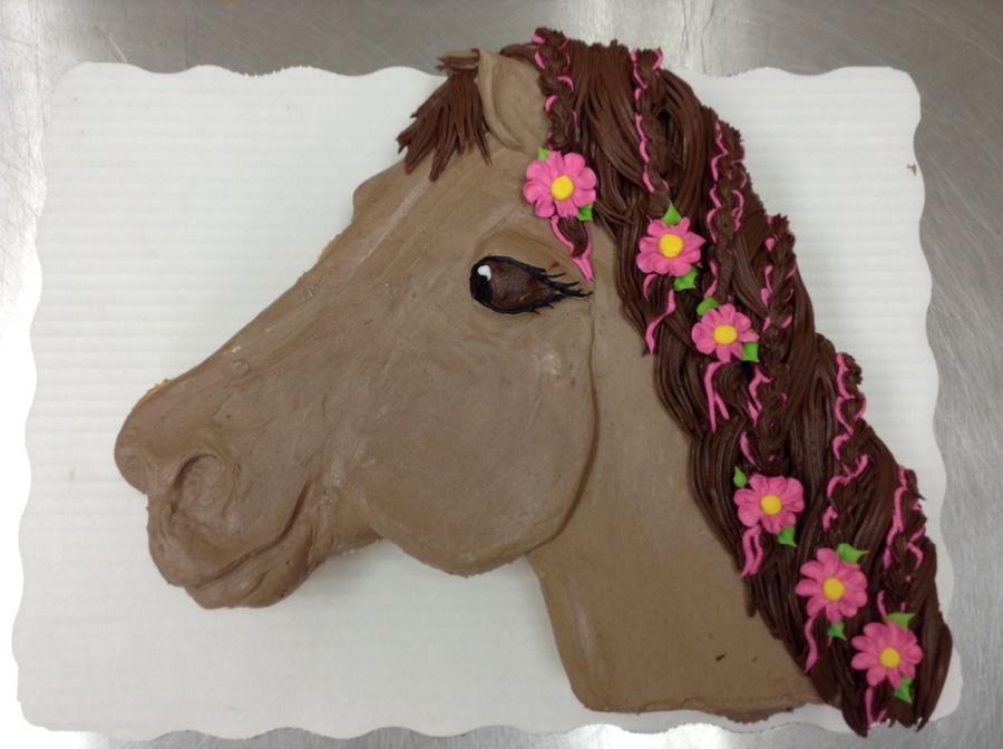 Horse Cupcake Cake Buttercream Cakecentral Com