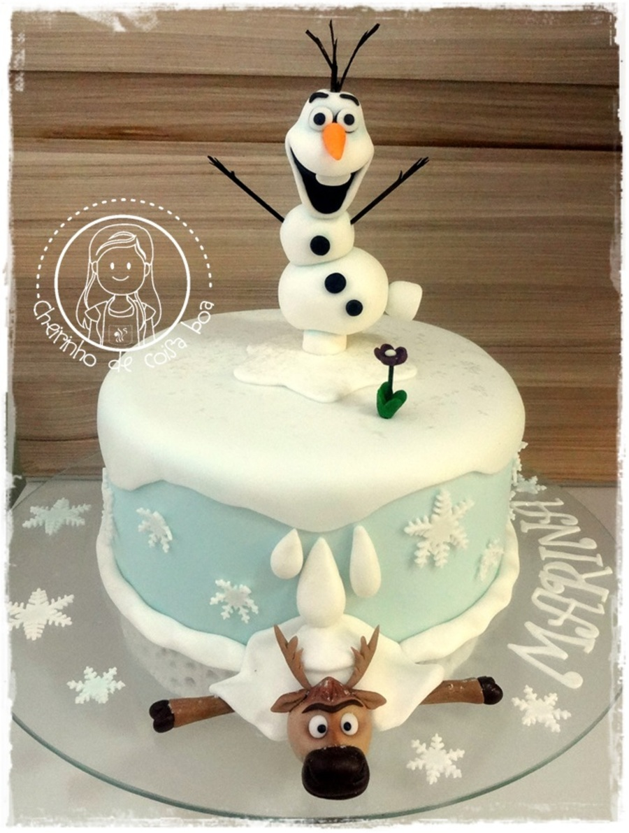 Cake Decoration Olaf : Frozen Cake, Olaf And Sven - CakeCentral.com