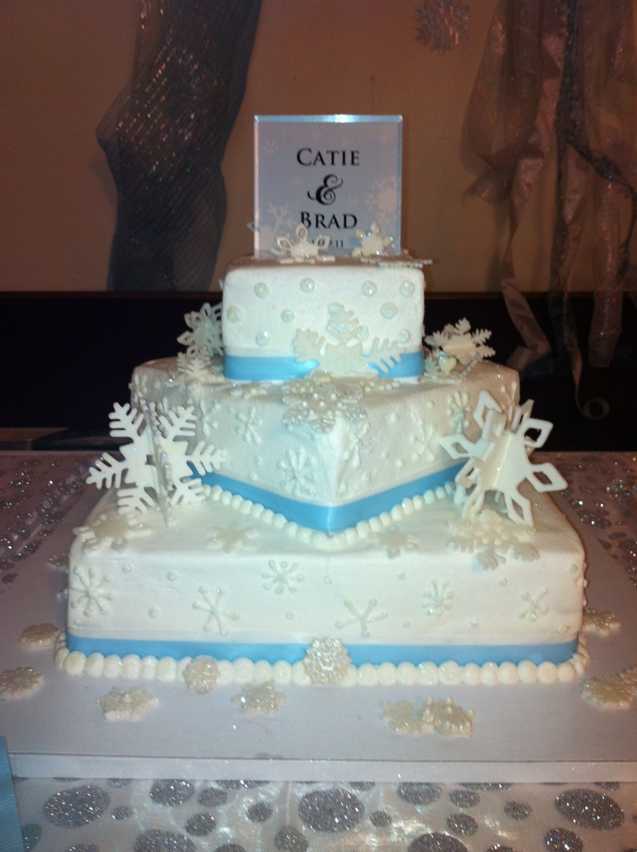Snowflake Wedding Cake on Cake Central