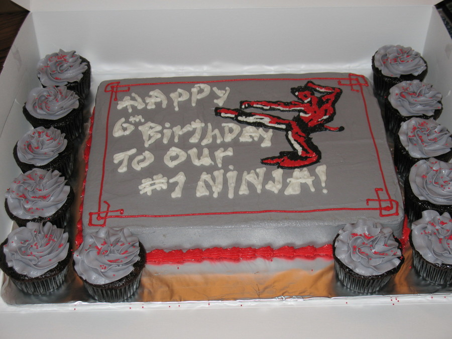 Ninja Birthday Cake on Cake Central