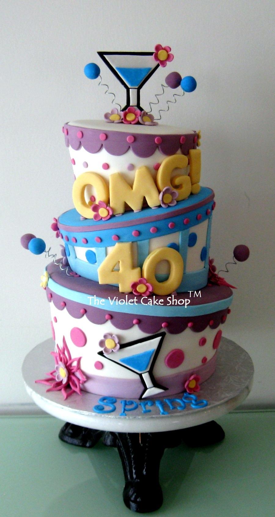 Omg 40 Celebration Cake On Central