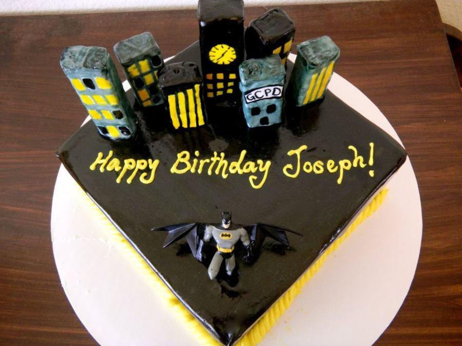 Birthday Cake For Joseph ~ Batman birthday cake cakecentral
