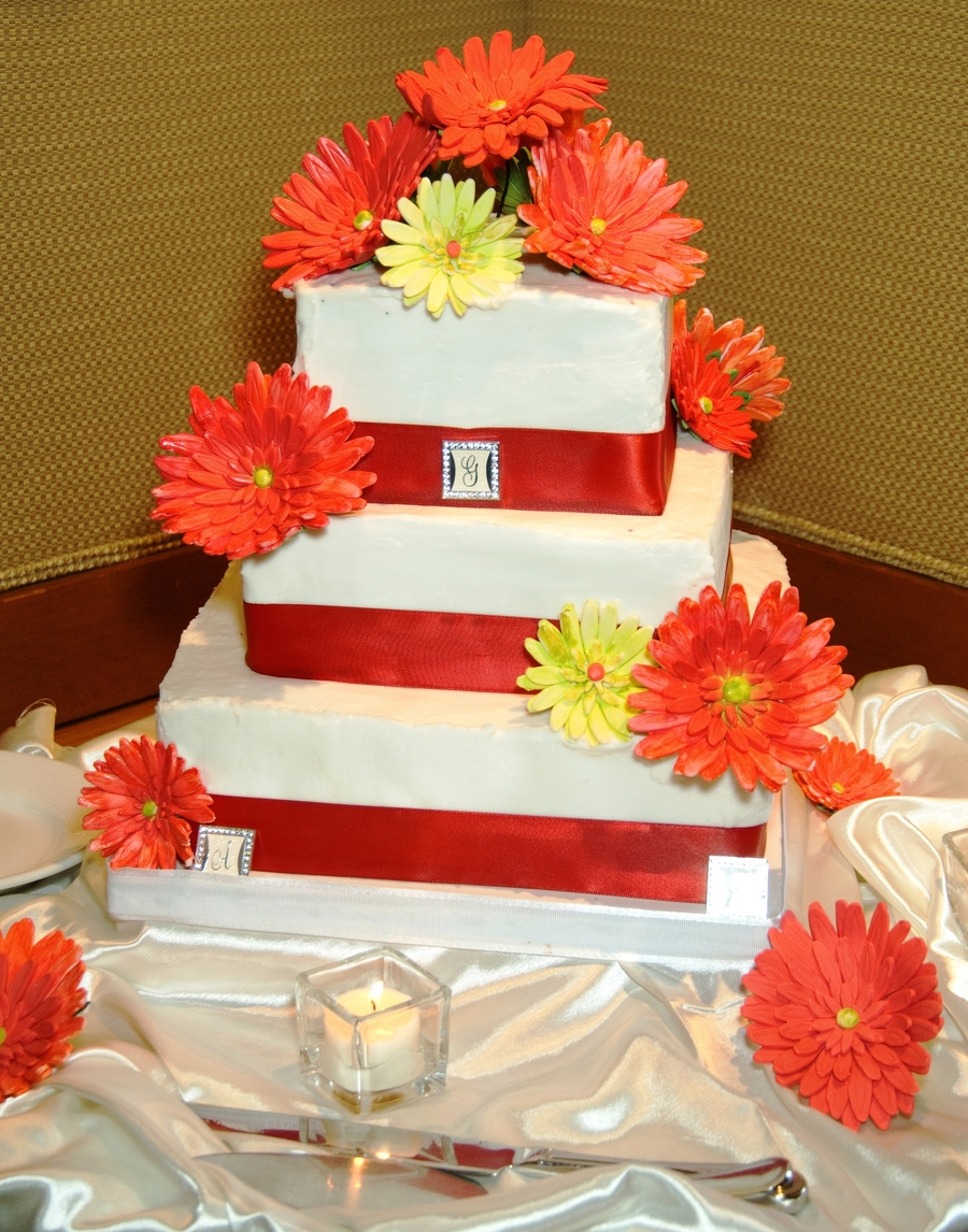 wedding cake pictures with gerbera daisies gerber gerbera wedding cake cakecentral 23449