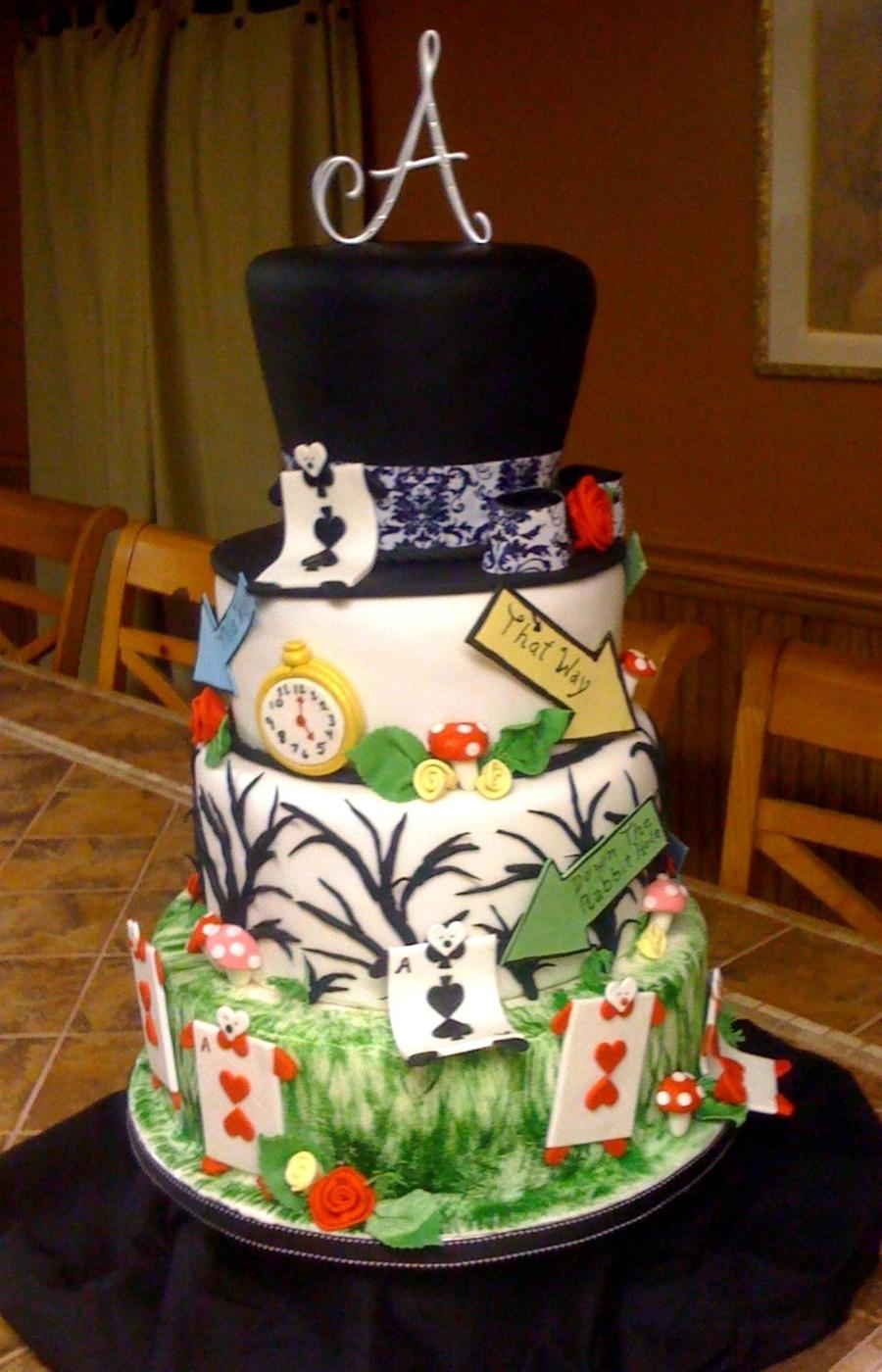 Alice In Wonderland 16 Birthday Cake Cakecentral Com
