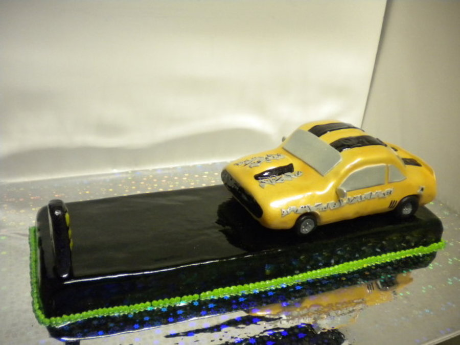 Camaro Dragster Cake on Cake Central