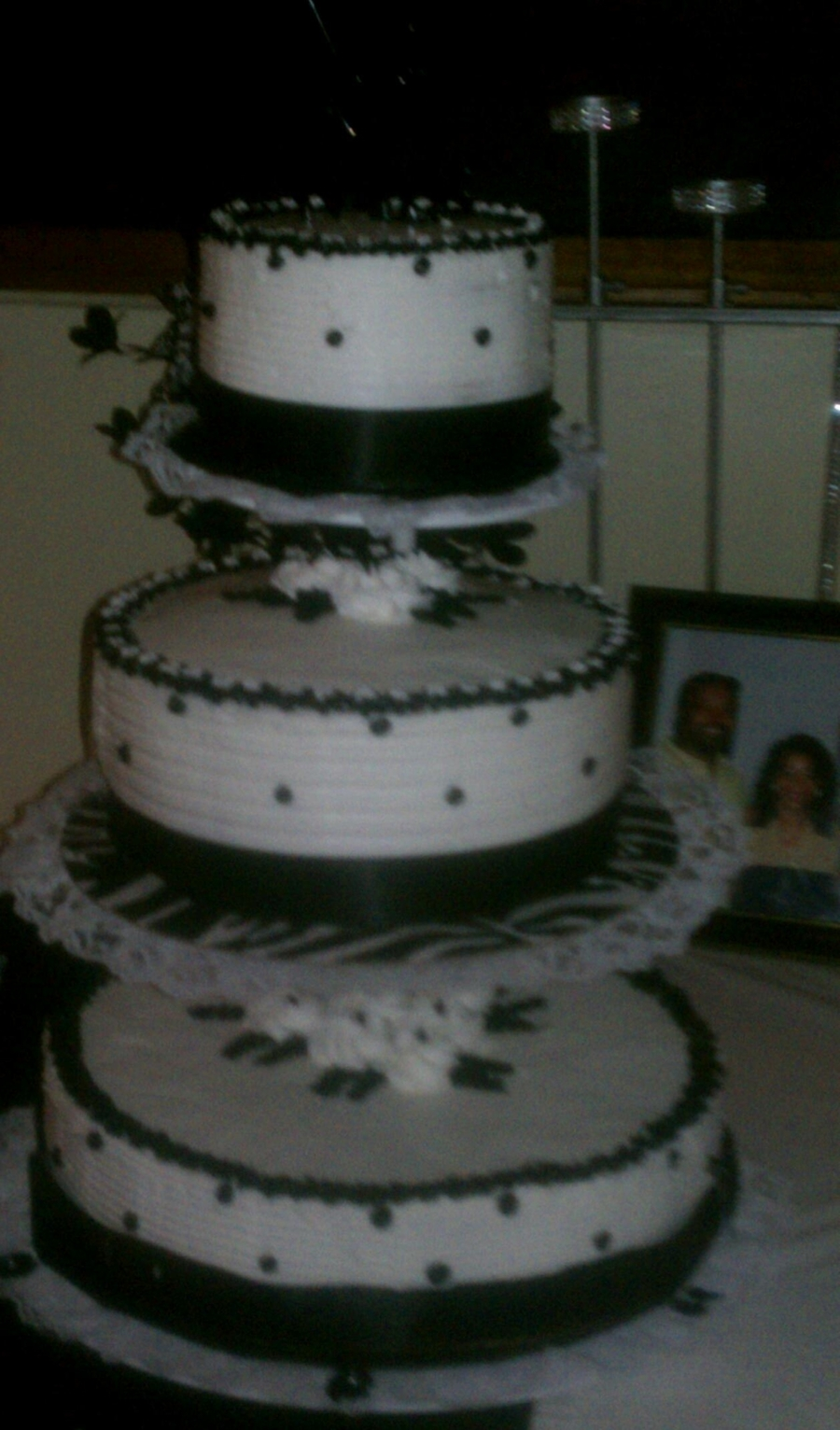 Black & White Wedding Cake on Cake Central