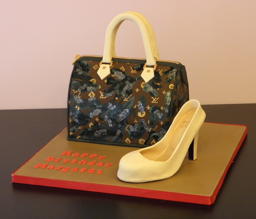 Louis Vuitton Purse & Louboutin Shoe on Cake Central