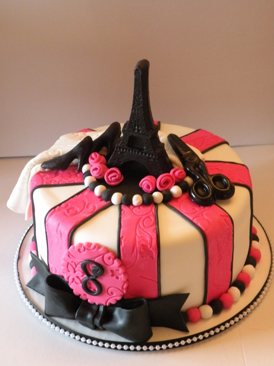 Paris/fashion Themed Birthday - CakeCentral.com
