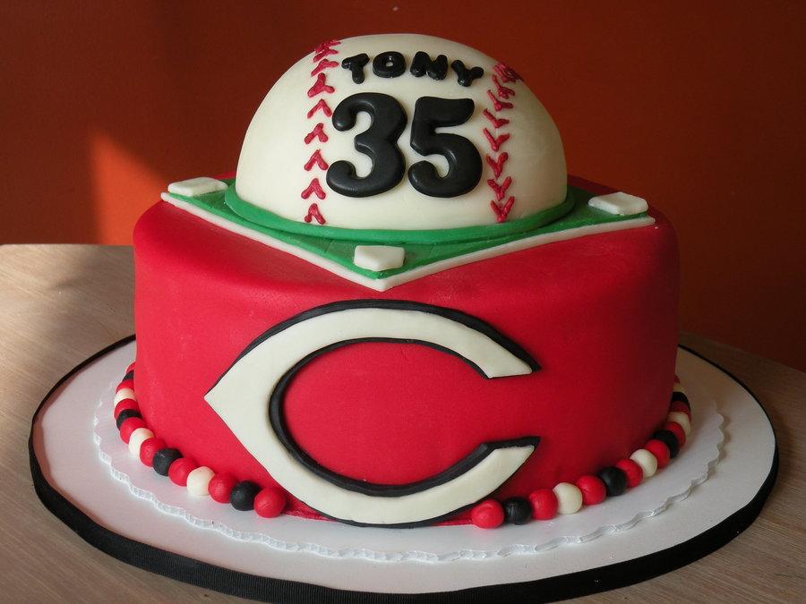 Cake Decorating Store Cincinnati : Cincinnati Reds Birthday Cake - CakeCentral.com