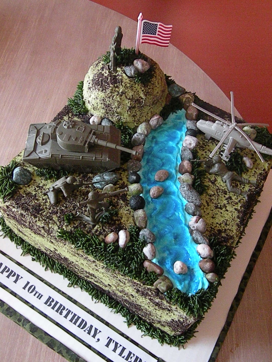 Army Battle Scene Birthday Cake Cakecentral Com