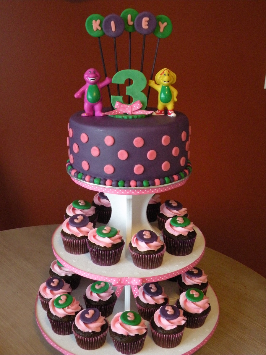 Barney Birthday Cake Amp Cupcakes Cakecentral Com
