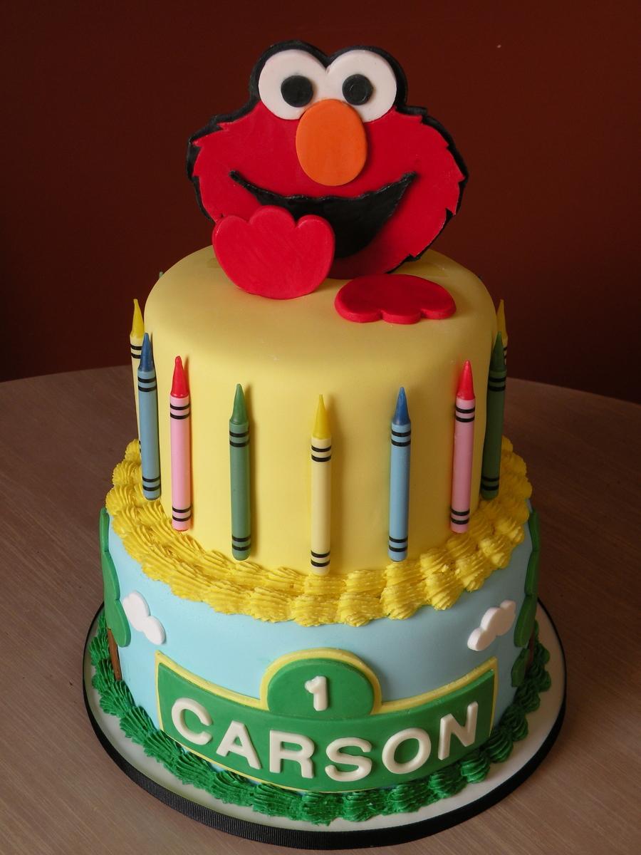 Elmo 1St Birthday Cake - CakeCentral.com