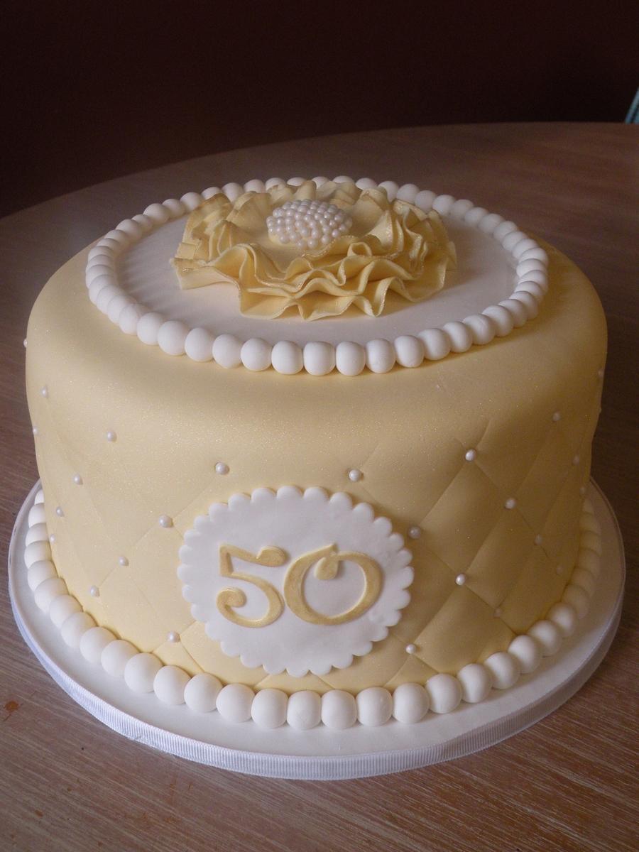 50th Anniversary Cake Cakecentral Com