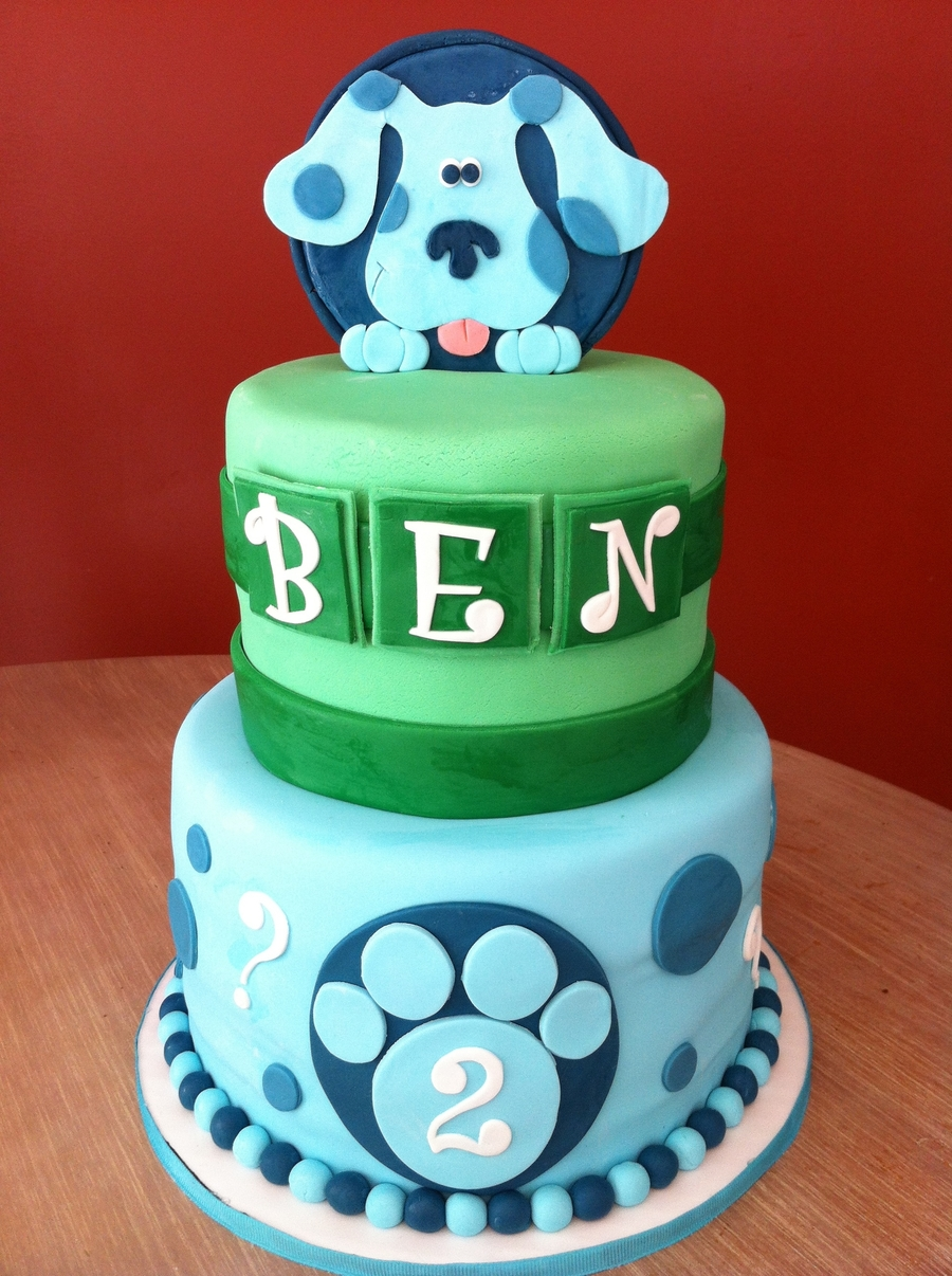 blue birthday cake blues clues birthday cakecentral 1922