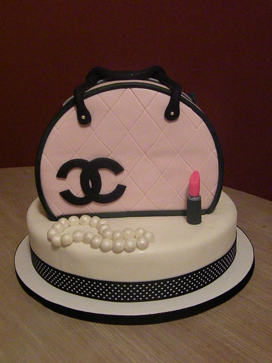 Black Chanel Bag Cake
