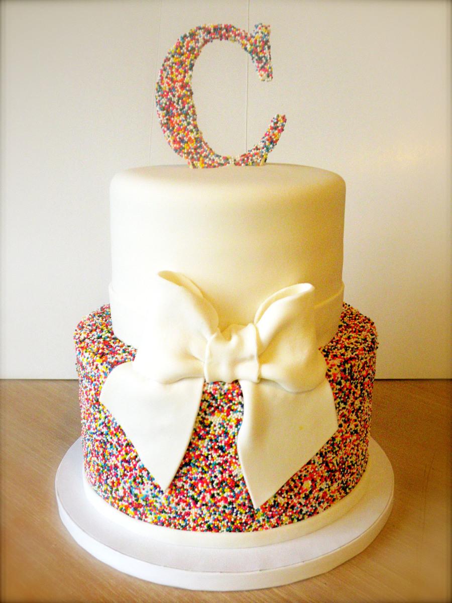 Rainbow Sprinkles Wedding Cake CakeCentral
