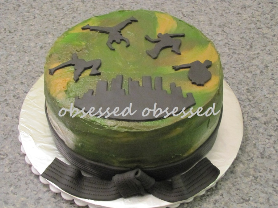 Camo/parkour/tkd Cake on Cake Central
