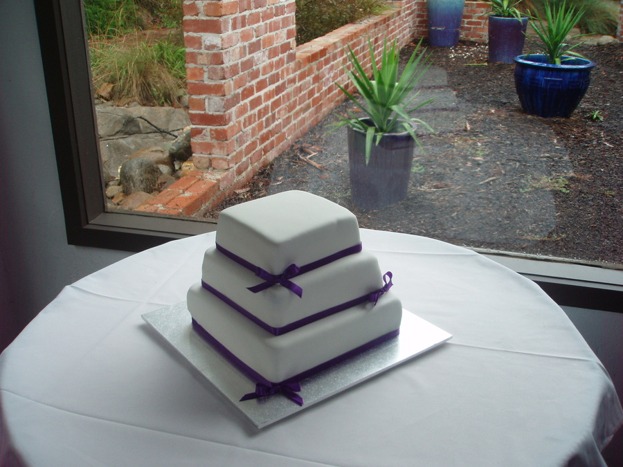 Purple Square 3 Tier on Cake Central