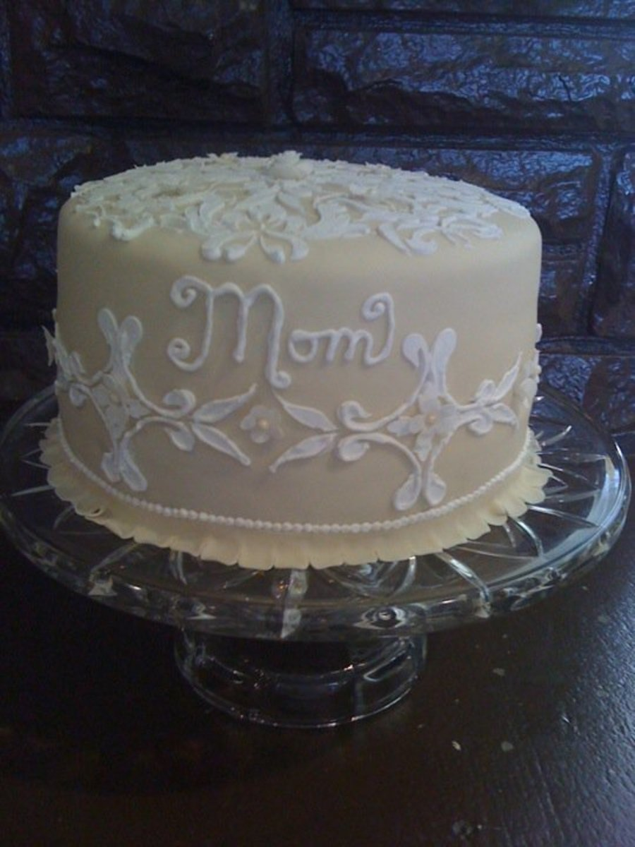 Terrific Birthday Cake For Mom Cakecentral Com Personalised Birthday Cards Bromeletsinfo