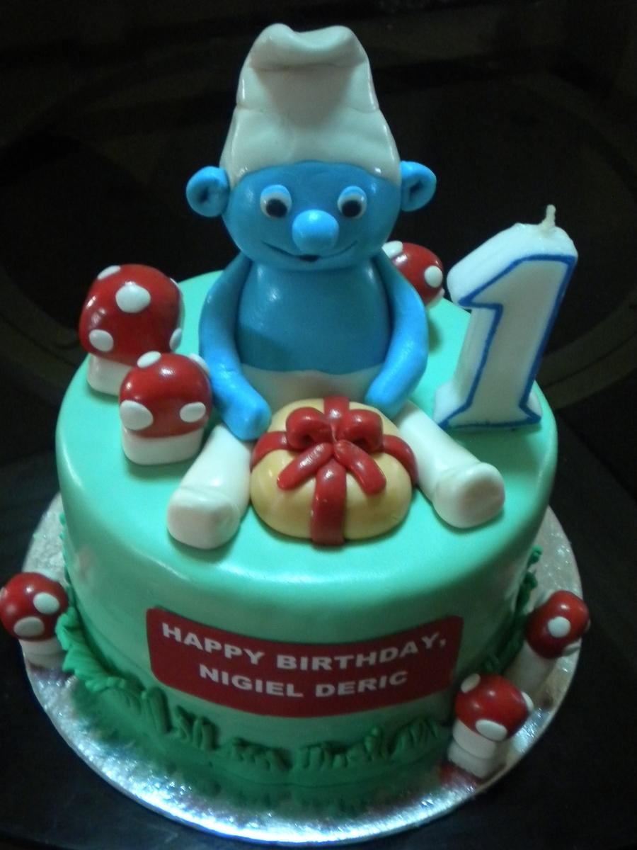 Smurf 1st Birthday Cakecentral