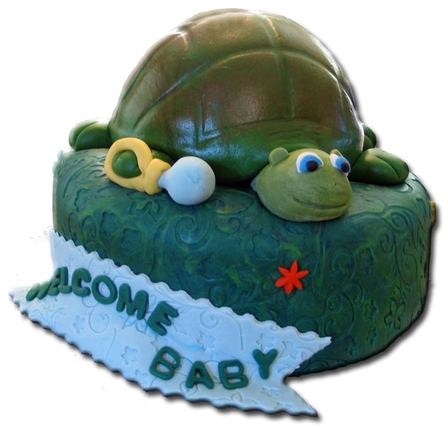 The Shinawatra Iv - Turtle Baby Shower Cake on Cake Central