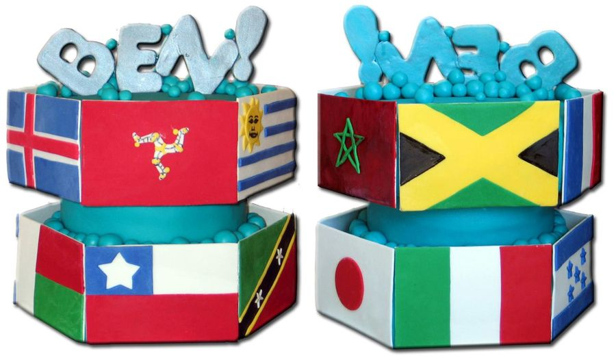 The Ben Ii - Flags From Around The World! on Cake Central