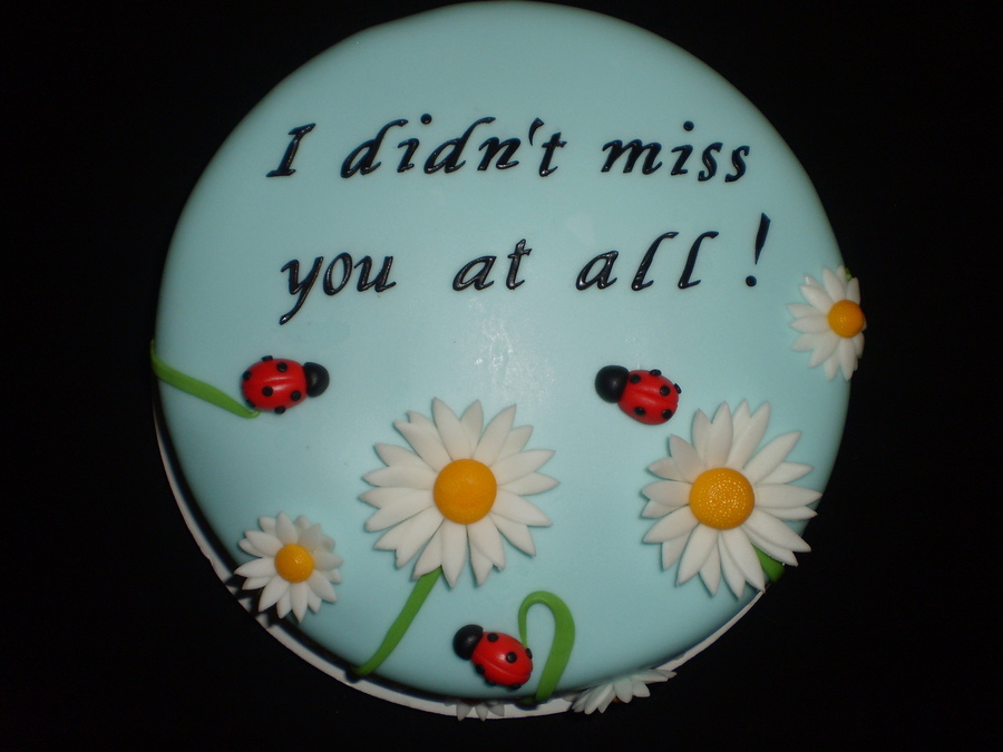 I Didn't Miss You At All... on Cake Central