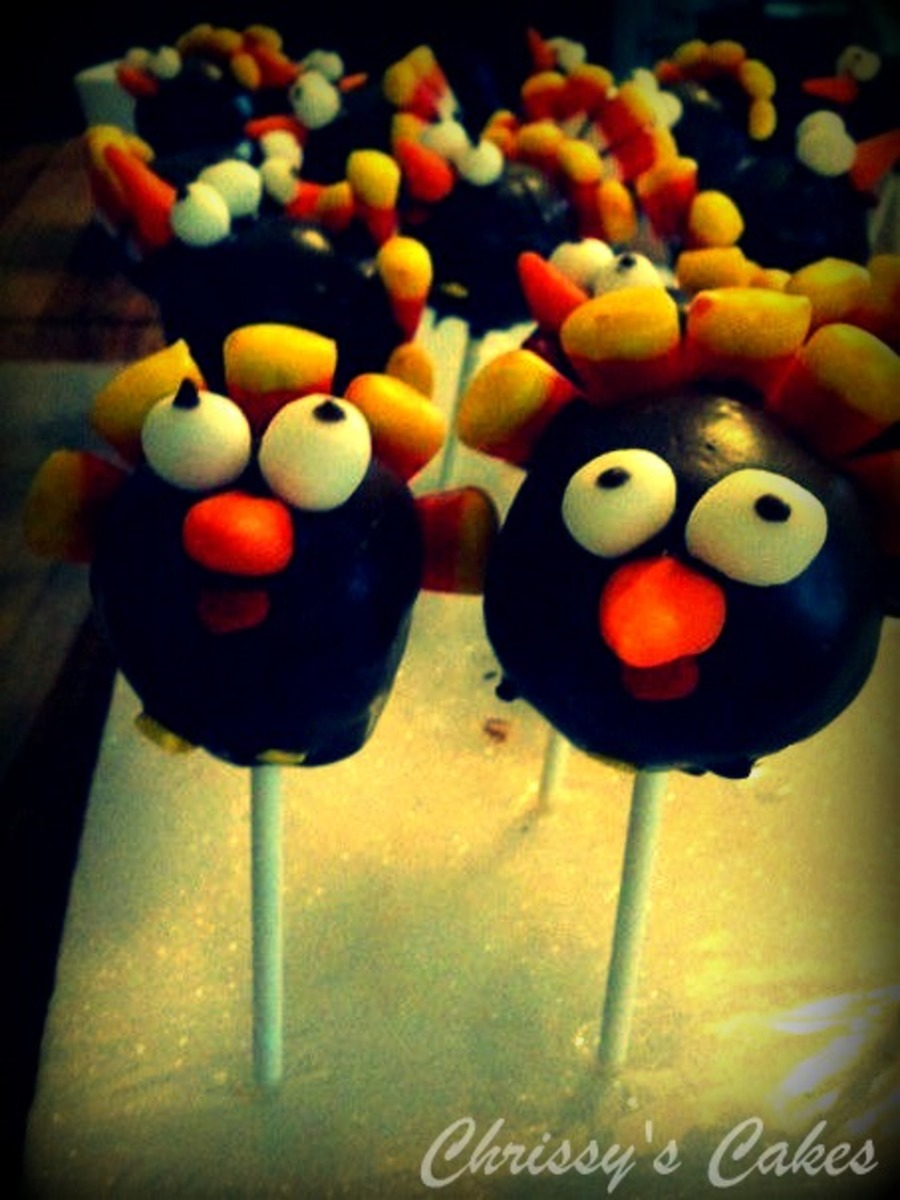 Turkey Cake Pops on Cake Central