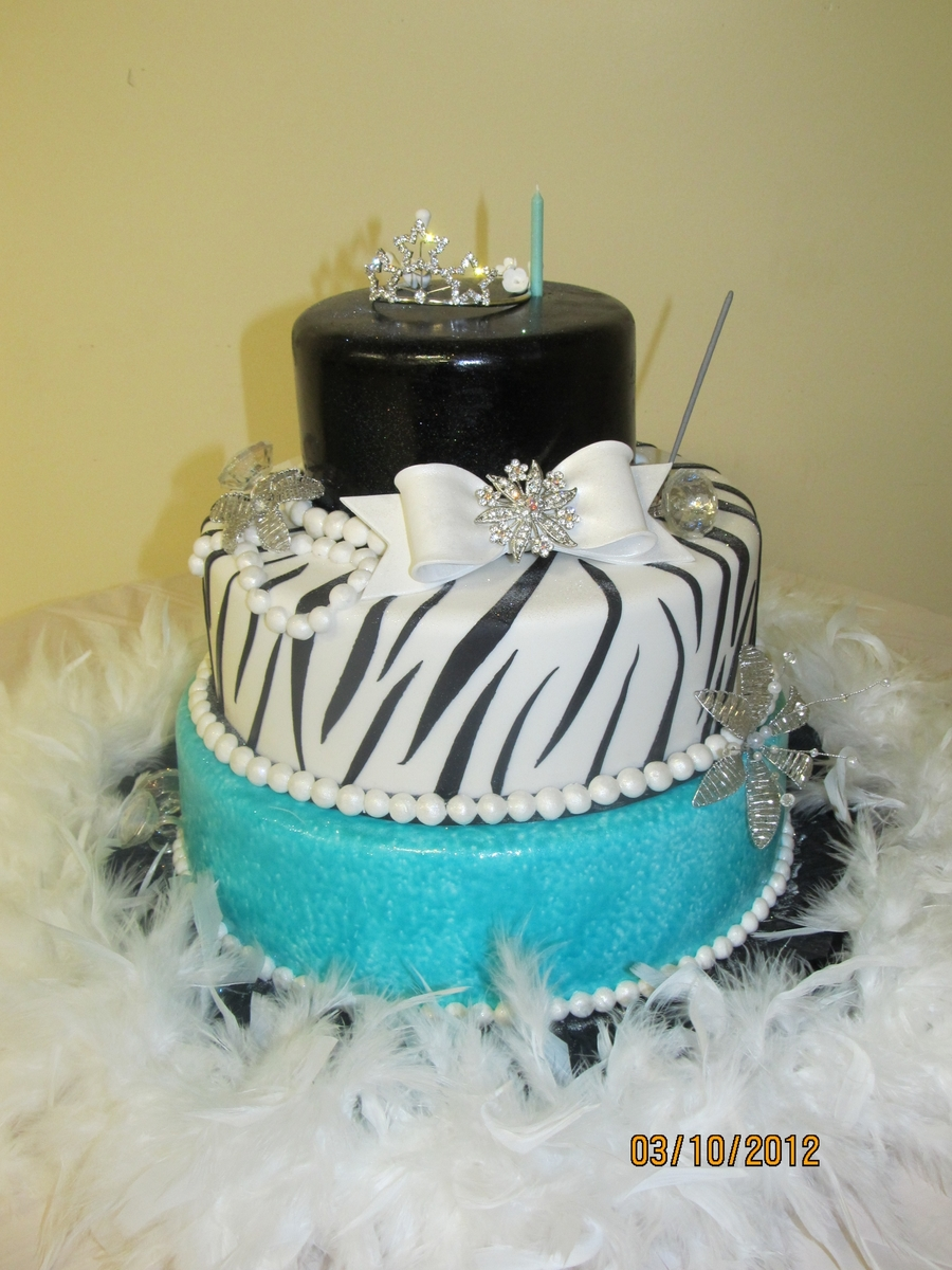 Breakfast At Tiffanys 1st Birthday Cake Cakecentral
