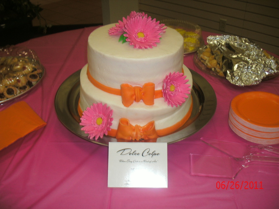 Gerbera Daisy Bridal Shower on Cake Central