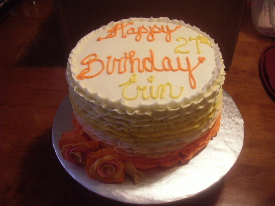 A Ruffled Birthday on Cake Central