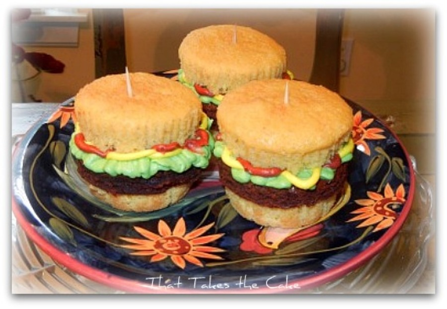 "A Plate Of ""sliders"" on Cake Central"