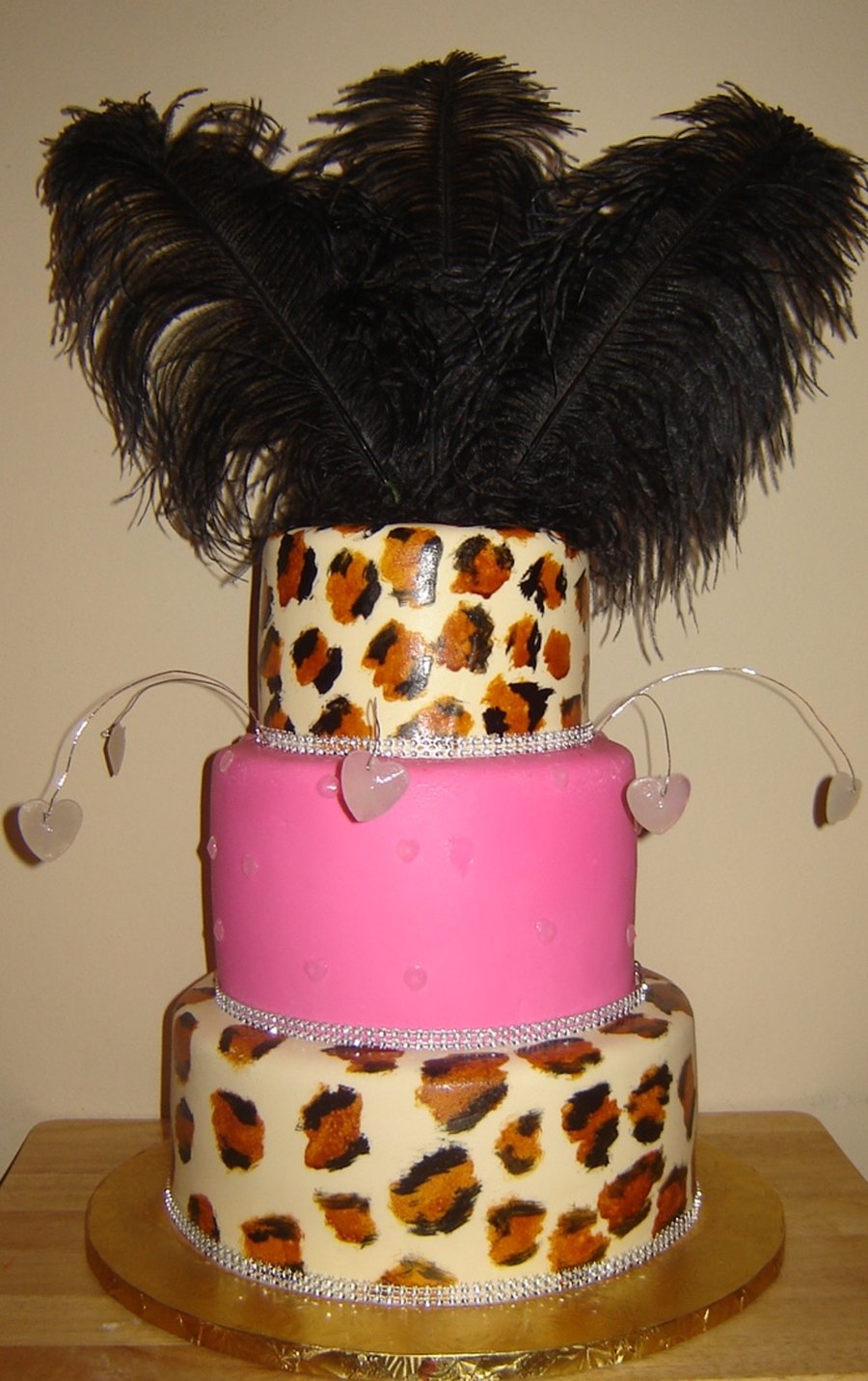 Luscious Leopard And Feathers on Cake Central