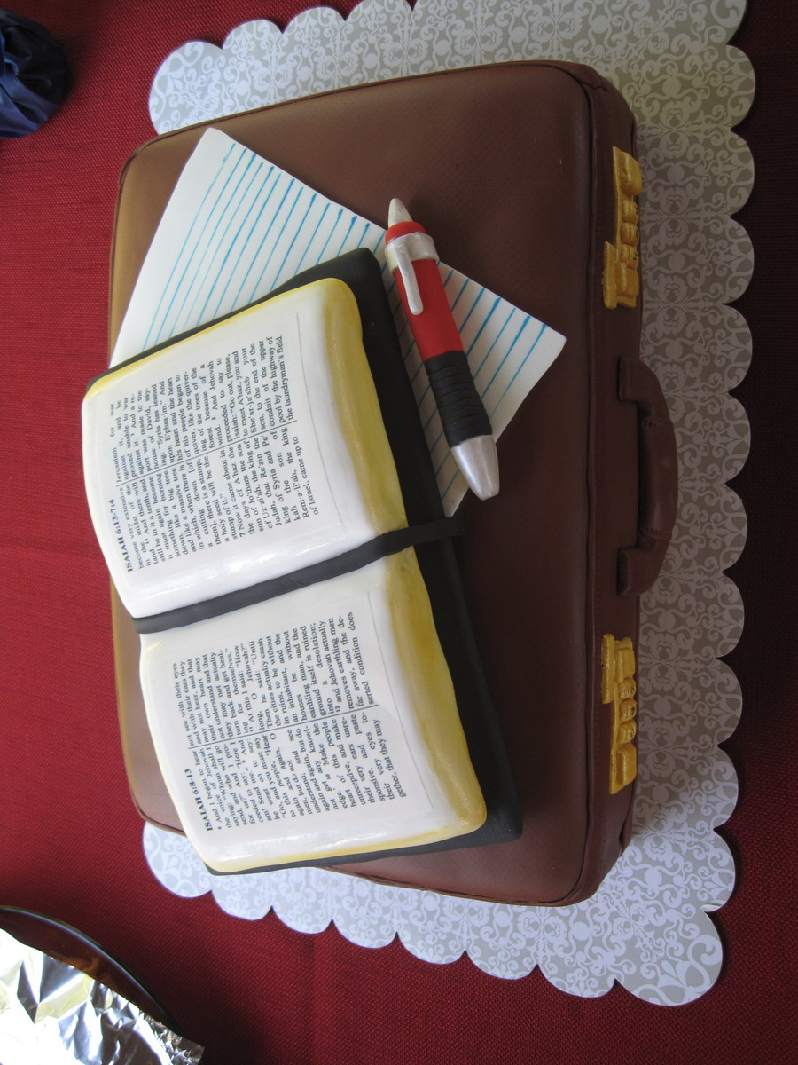 Bible And Briefcase Cakecentral Com