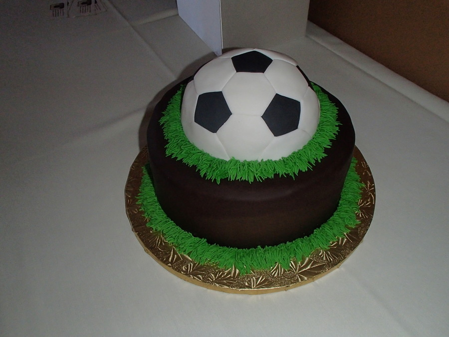 Soccer Ball Icing Decorations Best Soccer Ball Groom's Cake  Cakecentral Design Decoration