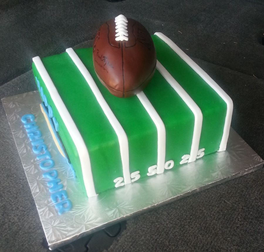 San Diego Chargers Cake: Happy Birthday Christopher