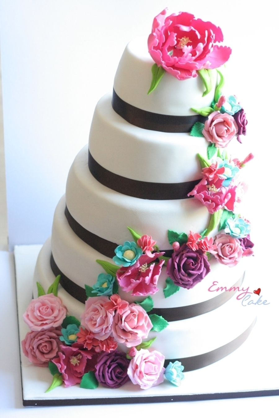 Card Themed Wedding Cake  on Cake Central