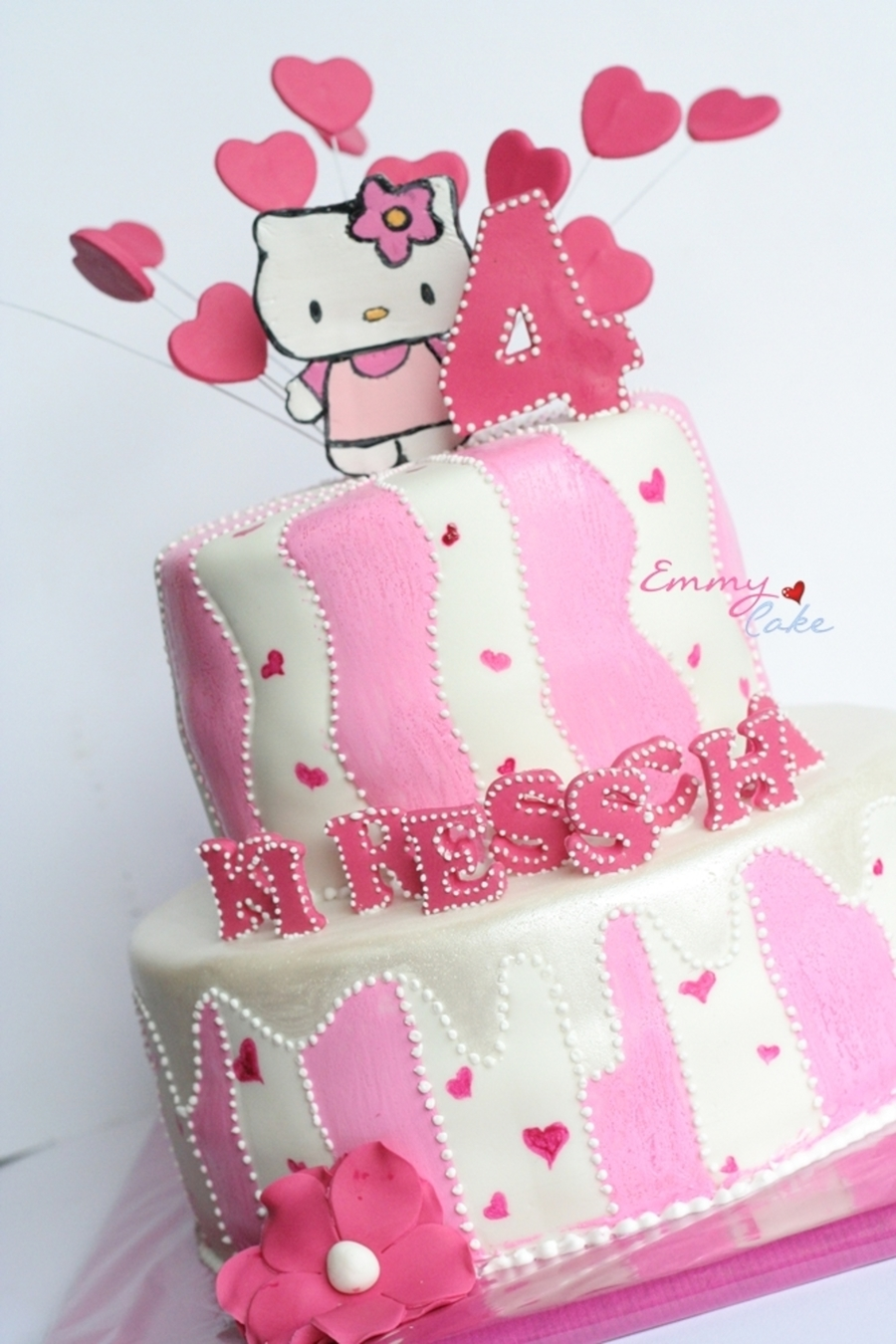 Hello Kitty Painted on Cake Central