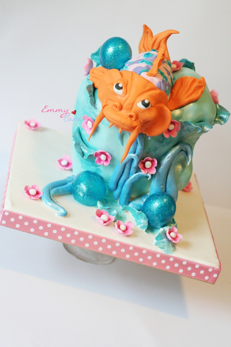 Koi 3D Fish  on Cake Central