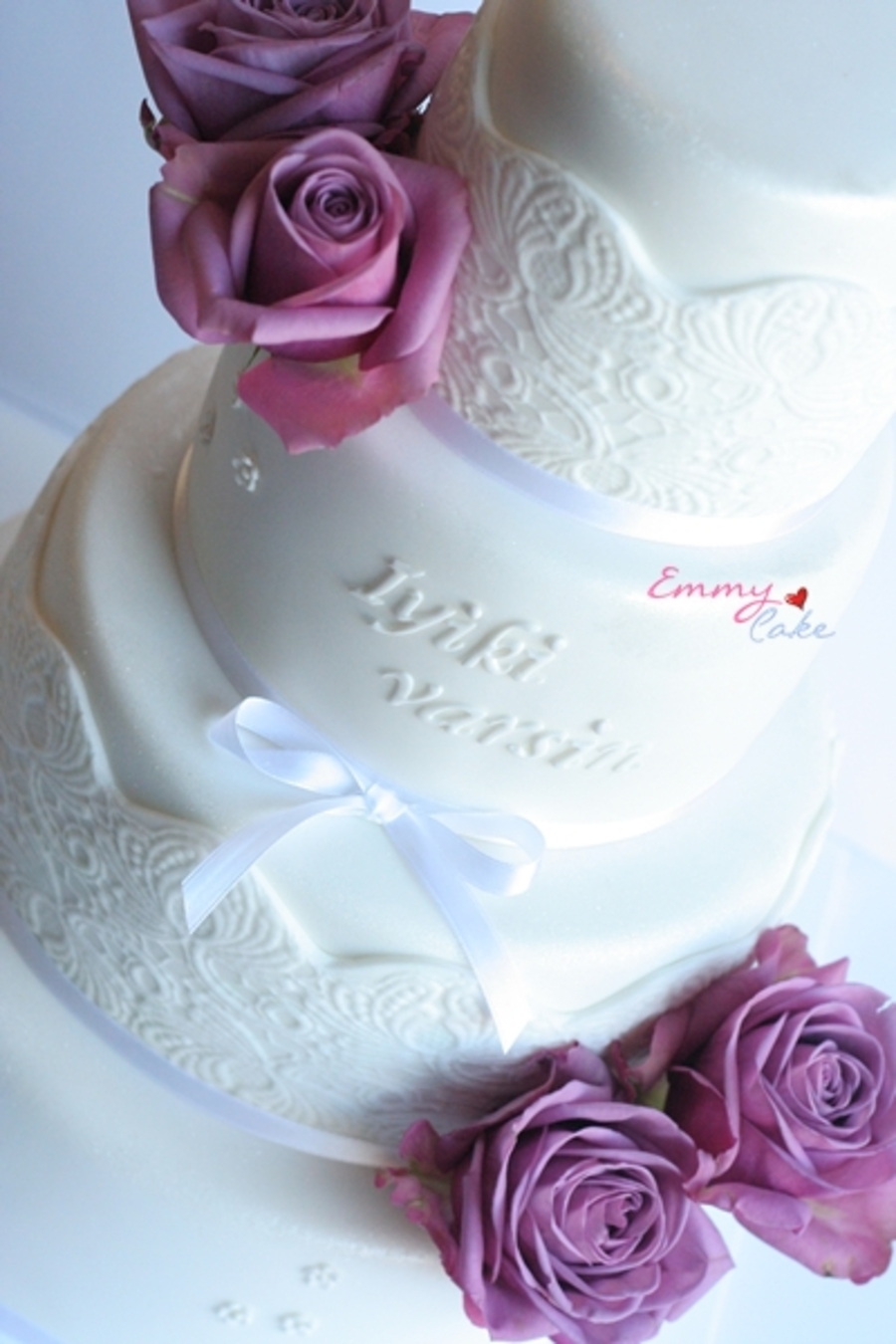 Special Birthday Cake With Purple Roses Cakecentral