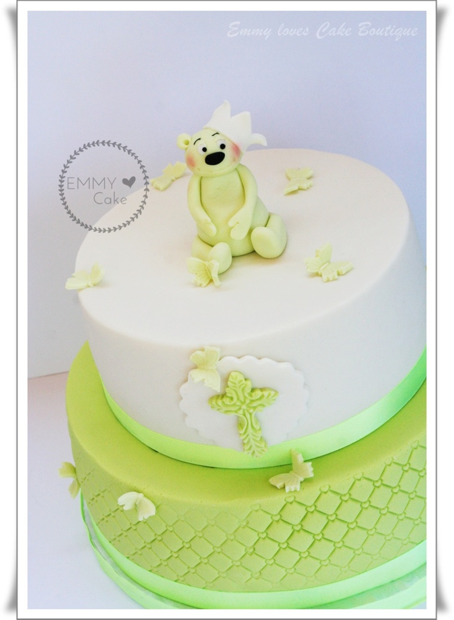 Christening Bear Cake on Cake Central