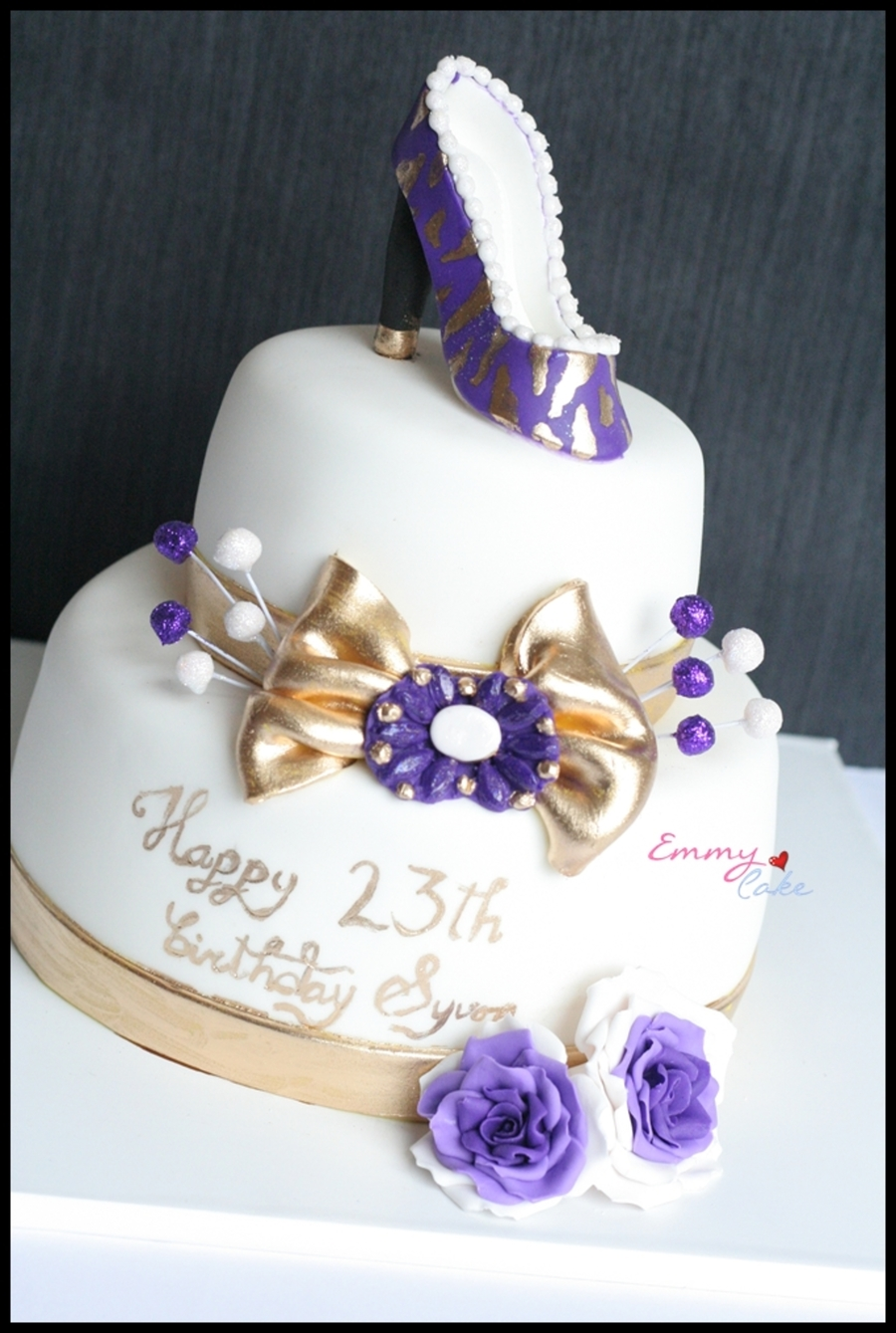 Purple Shoes  on Cake Central